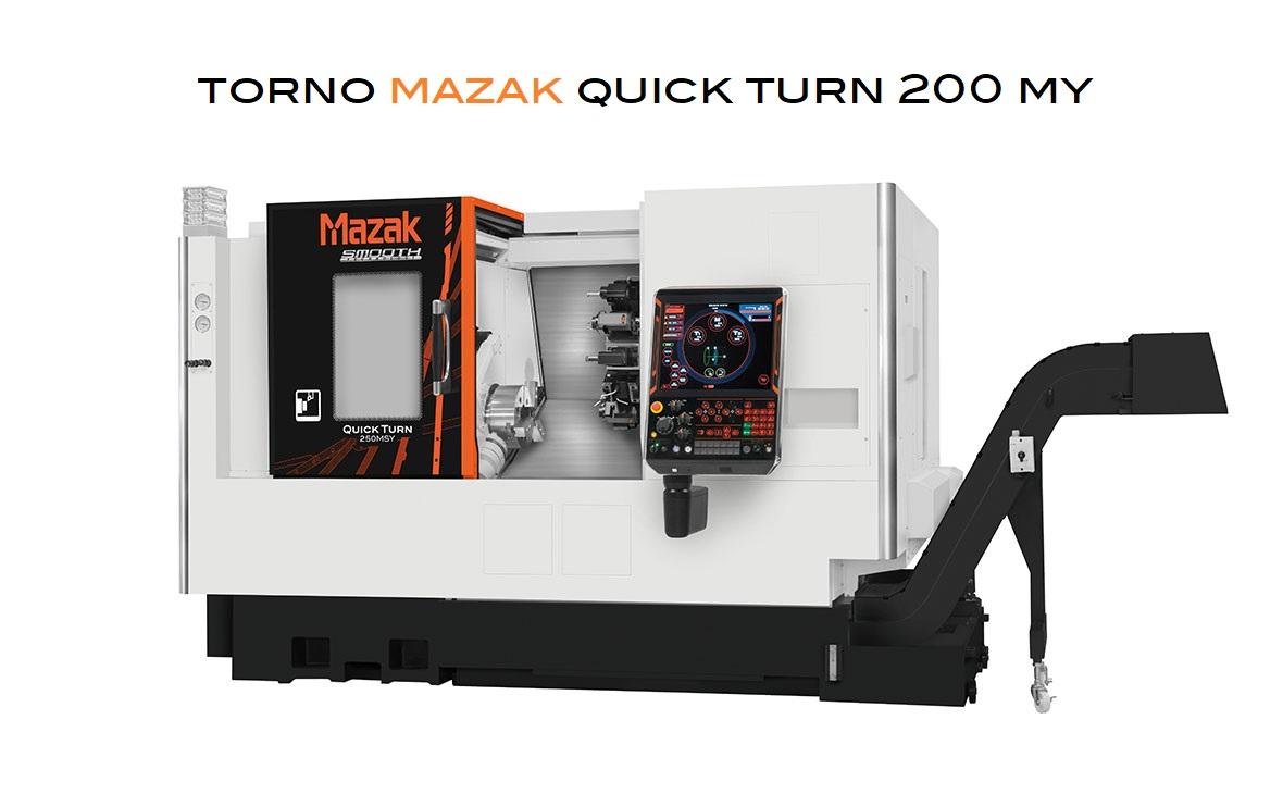 Foto - Torno Mazak QT-200MY con CONTROL NUMÉRICO SMOOTH G