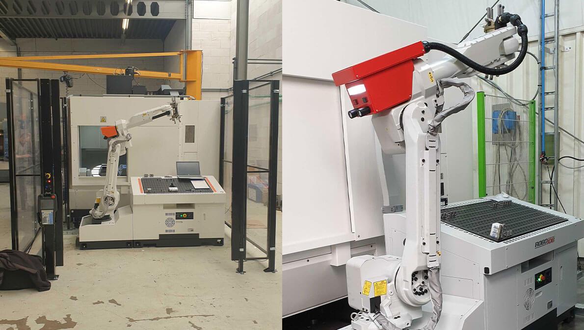 Robot Colaborativo Mill Assist Essential con centro de mecanizado 5 ejes CV5-500 Mazak - Intermaher