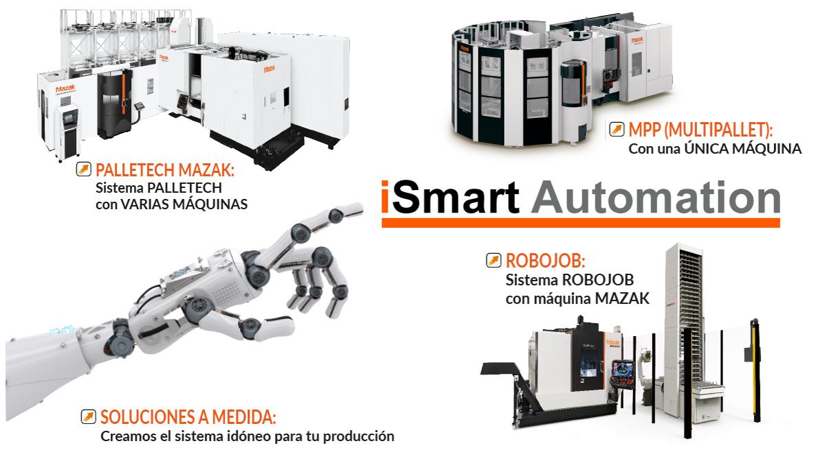 Intermaher iSmart Automation: Sistemas de Automatización con máquinas Mazak - Intermaher